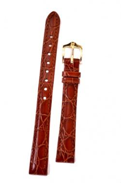 Hirsch 'Crocograin' Tan Leather Strap, 16mm - 12302870-1-16