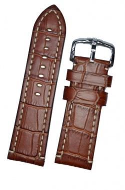 Hirsch 'Knight' 28mm Golden brown leather strap - 10902870-2-28