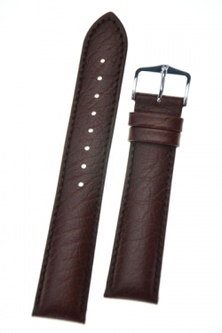 Hirsch 'Highland' Brown, leather watch strap 20mm - 04302010-2-20