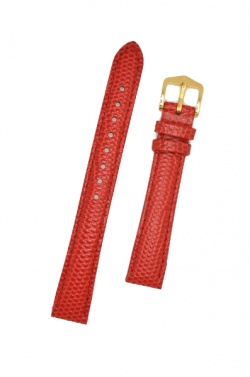Hirsch 'Rainbow' M Red Leather Strap, 14mm - 12302620-1-14