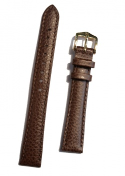 Hirsch 'Kansas' Brown Calf Leather Strap, 14mm - 01502110-1-14
