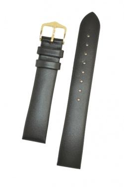 Hirsch 'Italocalf' Black Leather Strap, L,  18mm - 17822050-1-18