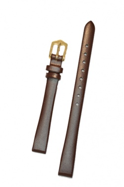 Hirsch 'Diamond calf'' Brown Leather Strap,M, 12mm - 14100210-1-12