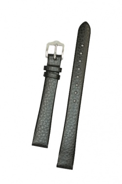 Hirsch 'Dakota' Black, leather watch strap,L, 16mm - 17820250-1-16