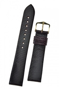 Hirsch 'Lizard' 18mm Burgundy Leather Strap  - 01766160-1-18