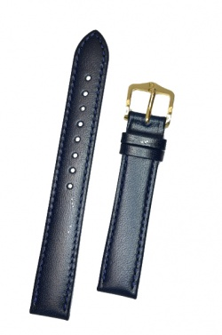 Hirsch 'Osiris' Blue Leather Strap, 15mm - 03475180-1-15