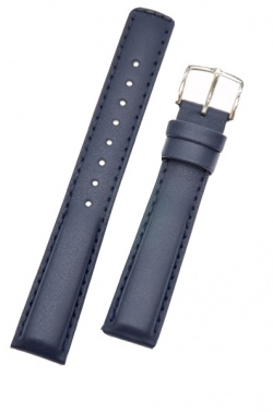 Hirsch 'Runner' 22mm Blue Leather Strap  - 04002080-2-22