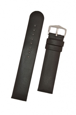 Hirsch 'Scandic' L Black leather watch strap, 22mm - 17872050-2-22