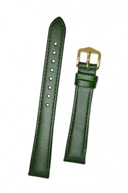Hirsch 'Osiris' Green Leather Strap, 14mm - 03475140-1-14