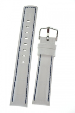 Hirsch 'Grand Duke' L High Tech 24mm White Leather Strap  - 02528001-2-24