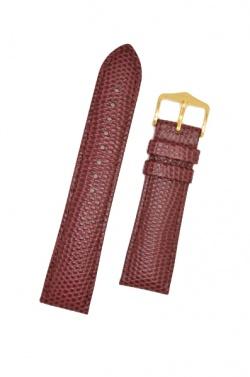 Hirsch 'Rainbow' M Burgundy Leather Strap, 18mm - 12302660-1-18