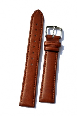 Hirsch 'Merino-Artisan' Tan Leather Strap, 22mm - 01206070-2-22