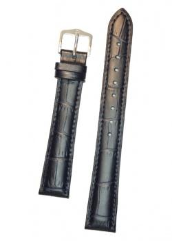 Hirsch 'Duke' Blue Leather Strap, 16mm - 01028180-1-16