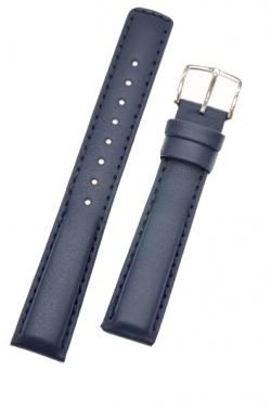 Hirsch 'Runner' 18mm Blue Leather Strap  - 04002080-2-18