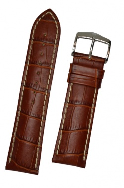 Hirsch 'Modena' Golden Brown Leather Strap, 24mm - 10302870-2-24