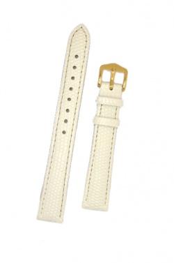 Hirsch 'Rainbow' M White Leather Strap, 12mm - 12302600-1-12