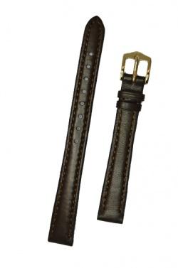 Hirsch 'Merino-Artisan' M Brown Leather Strap, 14mm - 01206110-1-14