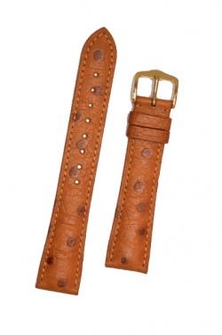 Hirsch 'Massai Ostritch'  M Golden Brown Leather Strap, 16mm - 04262170-1-16