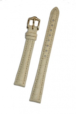 Hirsch 'Aristocrat' 12mm Beige Leather Strap  - 03828190-1-12