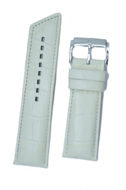 Hirsch 'Princess' White Leather Strap, 22mm - 02628101-2-22