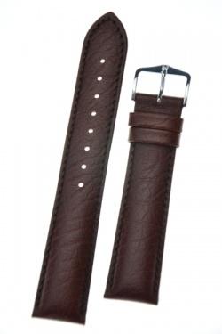 Hirsch 'Highland' M Brown, leather watch strap 16mm - 04302110-2-16