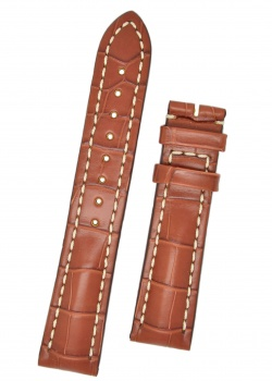 Hirsch 'Capitano' 22mm Matt Tan Alligator Leather Strap  - 04807079-0-22