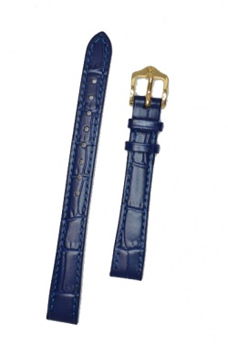 Hirsch 'LouisianaLook' M Blue Leather Strap, 12mm - 03427180-1-12