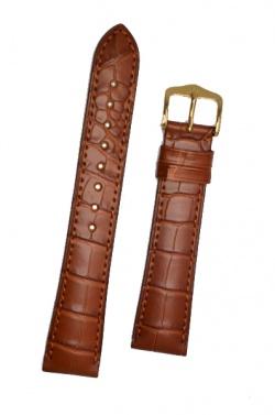 Hirsch 'London' L Golden Brown Leather Strap, 18mm - 04207079-1-18