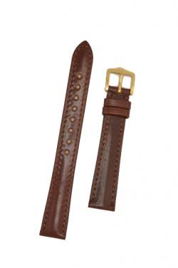 Hirsch 'Siena' M Brown, 16mm  Tuscan Leather Strap  - 04202110-1-16