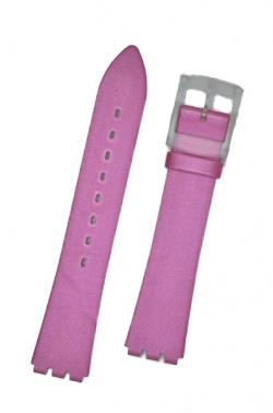 Hirsch Sarah, Watch Strap for Swatch Slim in Pink, 16mm, Plastic Buckle  - 64109525-9-19