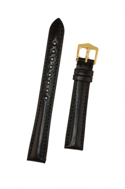 Hirsch 'Siena' M Black, 14mm  Tuscan Leather Strap  - 04202150-1-14