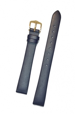 Hirsch 'Diamond calf'' Blue Leather Strap,L, 14mm - 14120280-1-14
