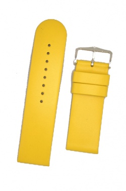 Hirsch 'Scandic' Yellow, leather watch strap 22mm - 17852073-2-22