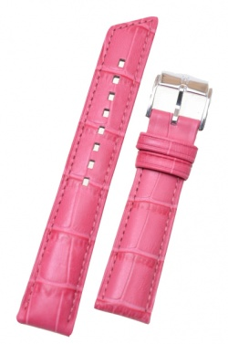 Hirsch 'Princess' Pink Leather Strap, 20mm - 02628125-2-20
