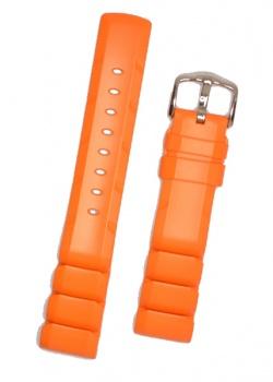 Hirsch 'Extreme' 20mm Premium Orange Rubber Strap  - 40498876-2-20