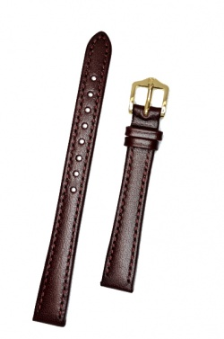Hirsch 'Osiris' Burgundy Leather Strap, 12mm - 03475160-1-12