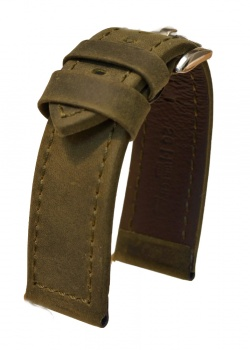 Hirsch 'Terra' Green Leather Strap, 24mm - 04633040-2-24
