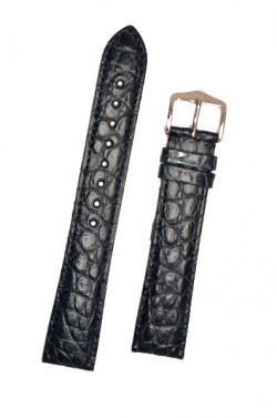 Hirsch 'Regent' Blue Leather Strap, 20mm - 04107089-2-20