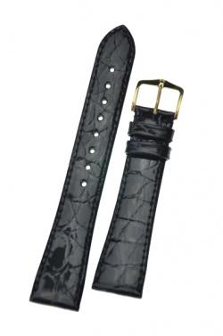 Hirsch 'Genuine Croco' M 18mm Black Leather Strap  - 18900850-1-18
