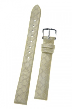 Hirsch 'Pythea Pearl'  14mm  Pearl Leather Strap  - 03678101-2-14