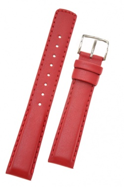 Hirsch 'Runner' 18mm Red Leather Strap  - 04002020-2-18