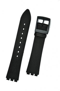 Hirsch Sarah, Watch Strap for Swatch Slim in black, 16mm, Plastic Buckle  - 64109550-9-19