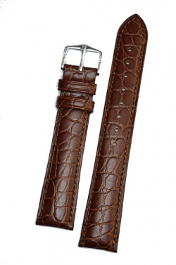 Hirsch 'Aristocrat' 22mm Brown Leather Strap  - 03828010-2-22