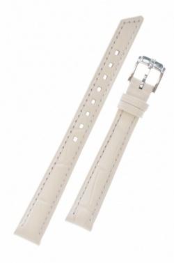 Hirsch 'Princess' White Leather Strap, 12mm - 02628101-2-12