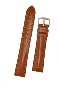 Hirsch 'Siena' L Golden Brown,19mm  Tuscan Leather Strap  - 04202070-2-19