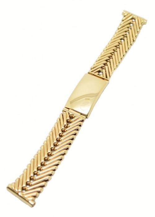 Gents 9ct Gold Watch Bracelet V Links Z Style Clasp