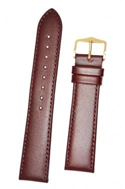 Hirsch 'Osiris' L Burgundy Leather Strap, 20mm - 03475060-1-20