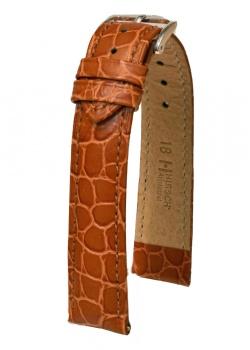 Hirsch 'Aristocrat' 18mm Golden Brown ,L, Leather Strap  - 03828070-2-18
