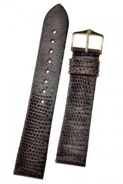 Hirsch 'Lizard' 18mm Brown Leather Strap  - 01766110-1-18