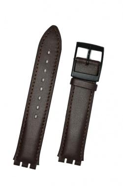 Hirsch William, Watch Strap for Swatch Gents in Brown, 17mm, Plastic Buckle  - 64017518-5-20